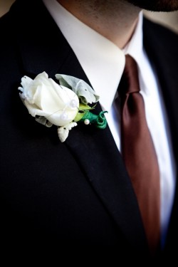 white-and-silver-boutonniere