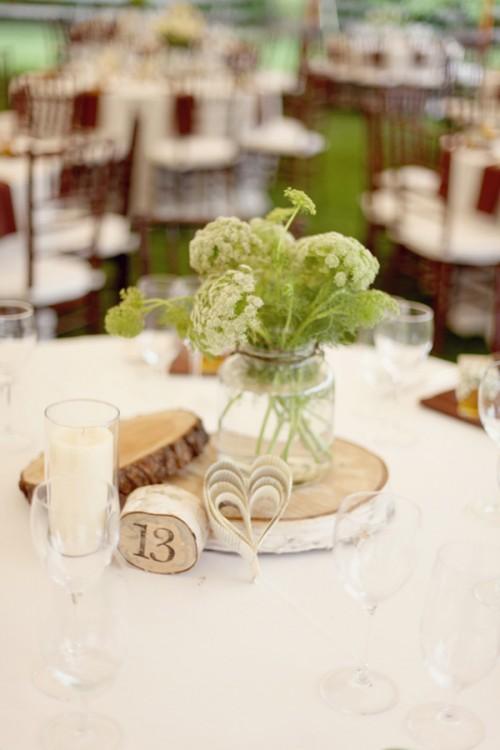 wood-and-paper-centerpieces - Elizabeth Anne Designs: The Wedding Blog