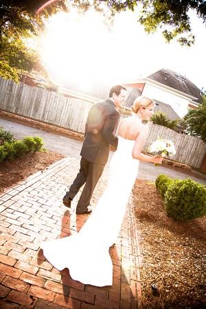 Bride-and-Groom-Sun-Flare