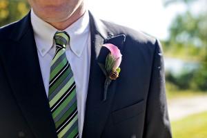 Groom-in-Green-Striped-Tie