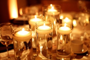Multiple-Floating-Candle-Centerpieces
