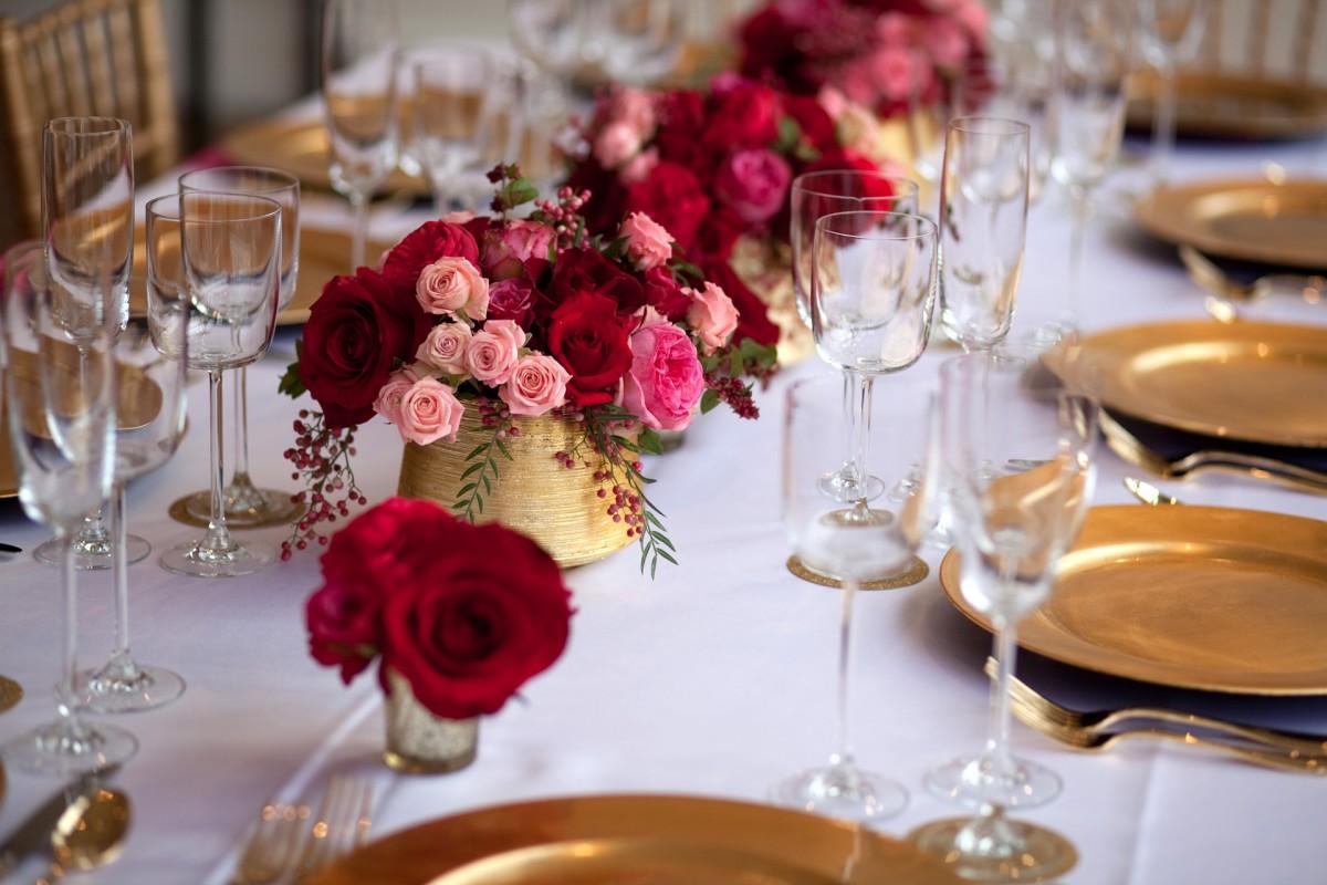 Pink, Red, & Gold Tabletop - Elizabeth Anne Designs: The Wedding Blog