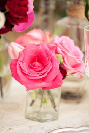 Pink-Rose-Centerpiece