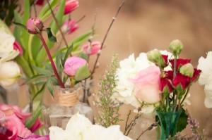 Pink-Wildflower-Centerpiece