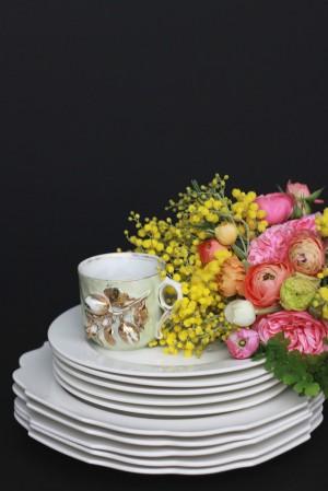 Pink-Yellow-Black-Elegant-Wedding-Centerpiece-3
