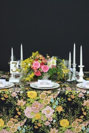 Pink-Yellow-Black-Elegant-Wedding-Centerpiece-4