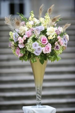 Romantic-Pink-and-Purple-Garden-Centerpiece