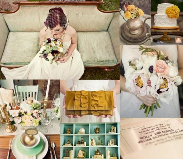 Rustic-Teal-Rose-Marigold-Wedding-Inspiration-Board