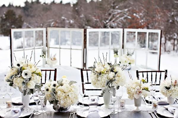 White-Gray-Wedding-Centerpiece