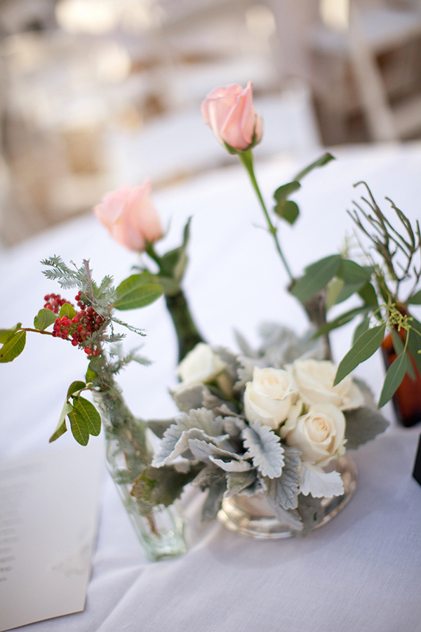 White-Rose-and-Silver-Leave-Centerpiece