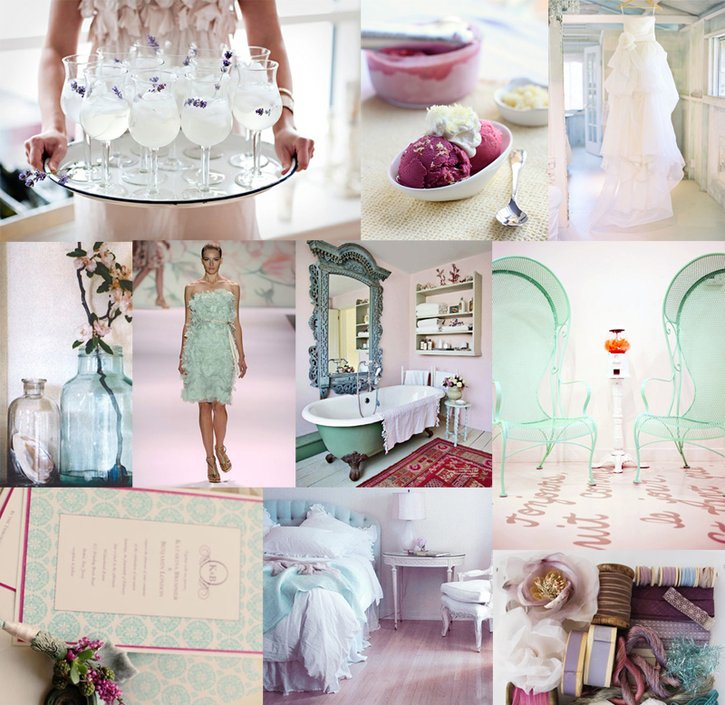 Lavender and Aqua Wedding Color Palette