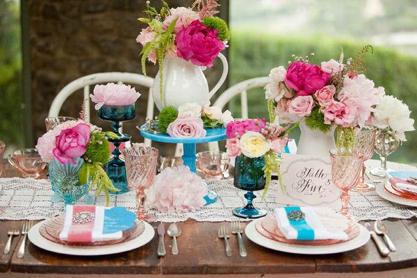 Aqua-Hot-Pink-Wedding-Colors