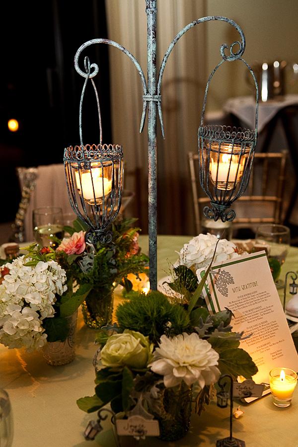 Art Nouveau Lantern Centerpiece Elizabeth Anne Designs