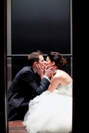 Bride-and-Groom-in-Elevator
