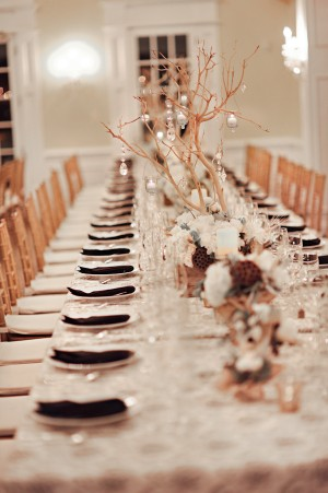 Brown-Gold-White-Elegant-Wedding-Centerpiece