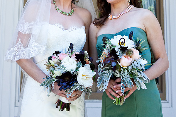 Chocolate-Pink-Ivory-Green-Bouquet
