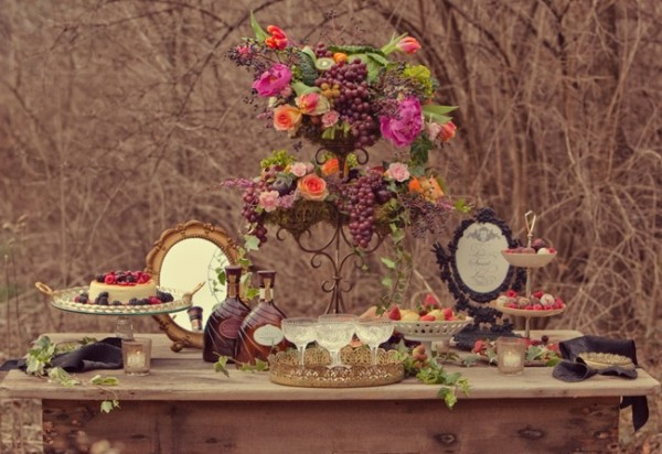 Elegant-Purple-Baroque-Dessert-Table