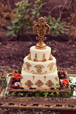 Gilded-Gold-Wedding-Cake