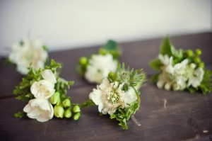 Ivory-Green-Boutonnieres
