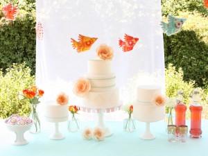 Orange-Aqua-Wedding-Dessert-Table