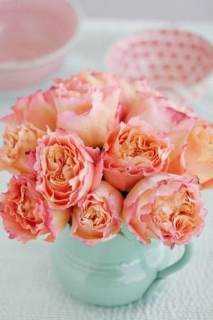 Peach-Flowers-in-Aqua-Vase