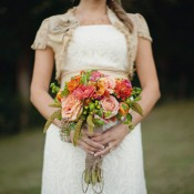 Peach Garden Rose Bouquet peach-orange-garden-rose-bouquet - elizabeth anne designs: the