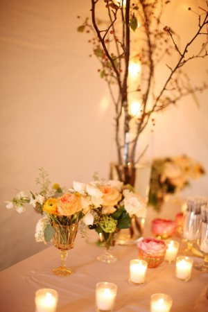 Peach-and-Yellow-Centerpiece