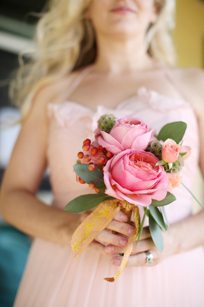 Peony Rose Pink Posy Bouquet Elizabeth Anne Designs The