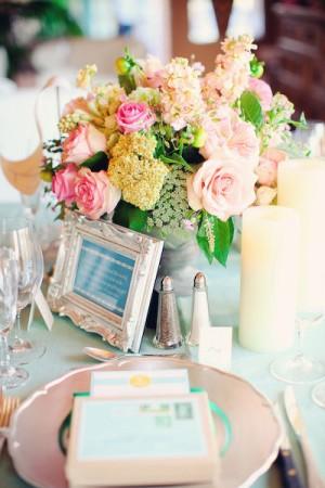 Pink-Aqua-Wedding-Centerpiece