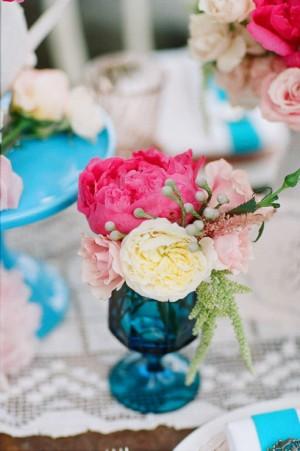 Pink-Peonies-in-Blue-Glass-Vase
