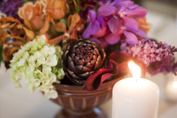Purple-Artichoke-Centerpiece