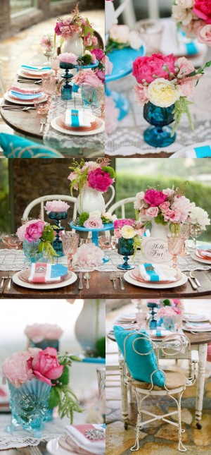 aqua-pink-tablescape
