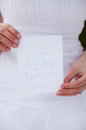 calligraphied-blue-wedding-program