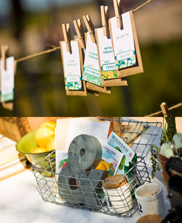Garden Wedding Ideas Seed Packets