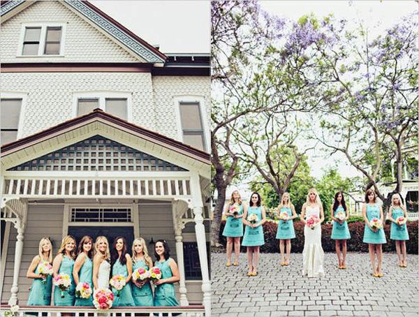 turquoise-bridesmaids