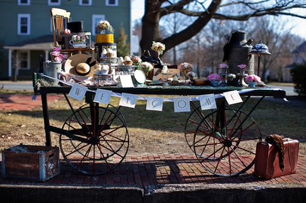 Antique-Railroad-Wedding-Dessert-Cart