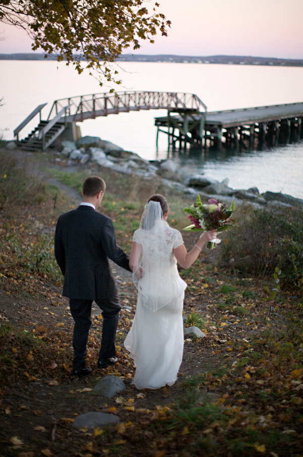 Bride-and-Groom-on-Dock