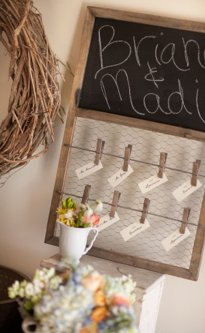 Chicken-Wire-Escort-Card-Display