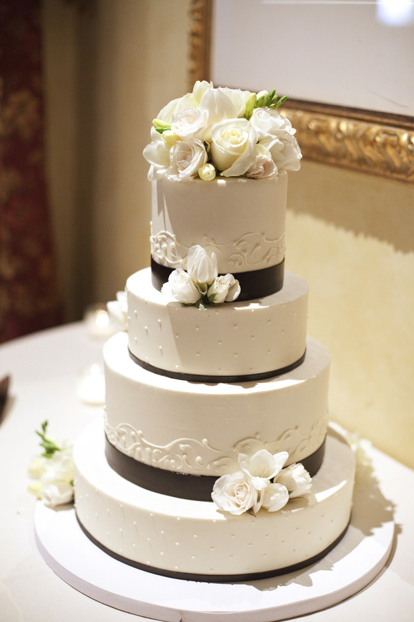 White Blue And Red Wedding Cakes