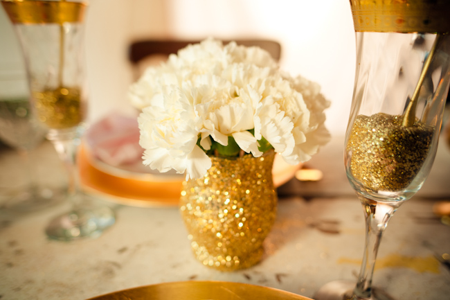 Gold Glitter Vase Elizabeth Anne Designs The Wedding Blog