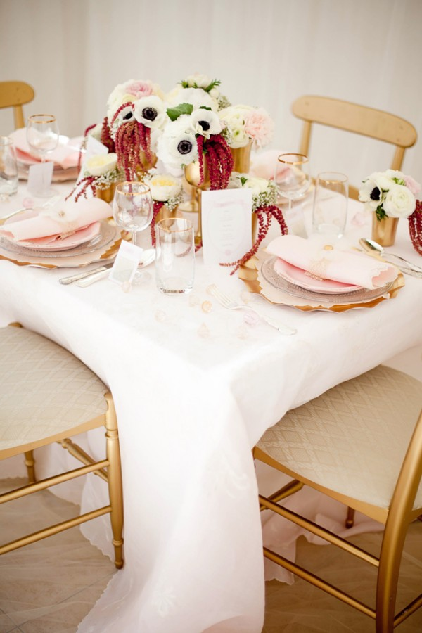 gold pink bridal shower ideas