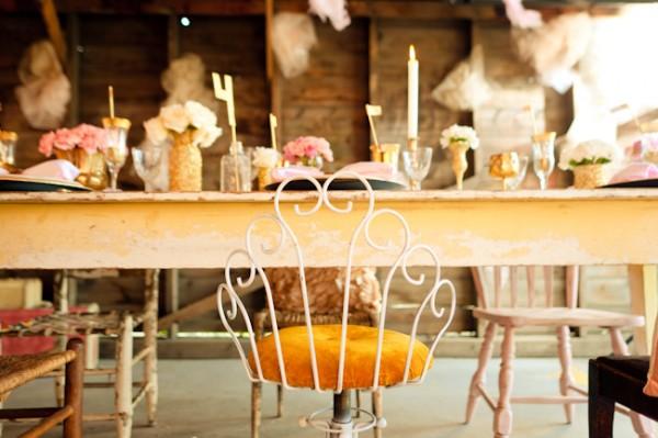 Gold-Pink-Vintage-Wedding-ideas