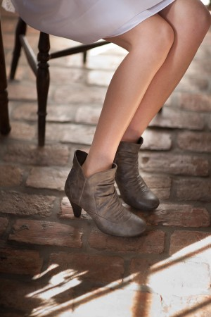 Gray-Leather-Ankle-Boots