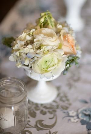 Mini-Rose-and-Hydrangea-Centerpiece