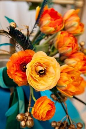 Orange-Ranunculus-Centerpiece