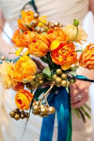 Orange-and-Blue-Floral
