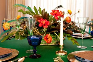 Orange-and-Green-Table-Decor