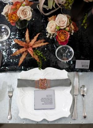 Peach-Gray-Black-Modern-Wedding