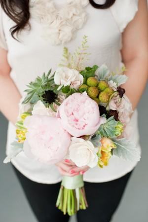 Peony-Succulent-Bouquet