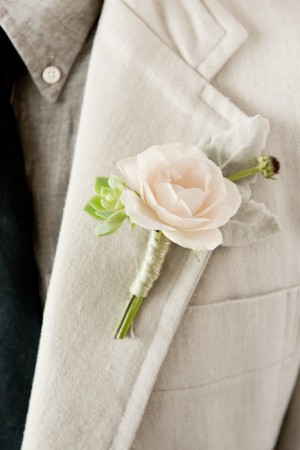 Pink-Rose-Boutonniere